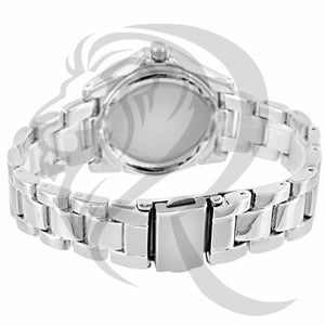 All White Gold Tone 43MM Watch