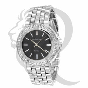 Black & White 36MM IcedOut Bezel Watch