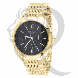 42MM Black Dial Plain Yellow Milano Watch