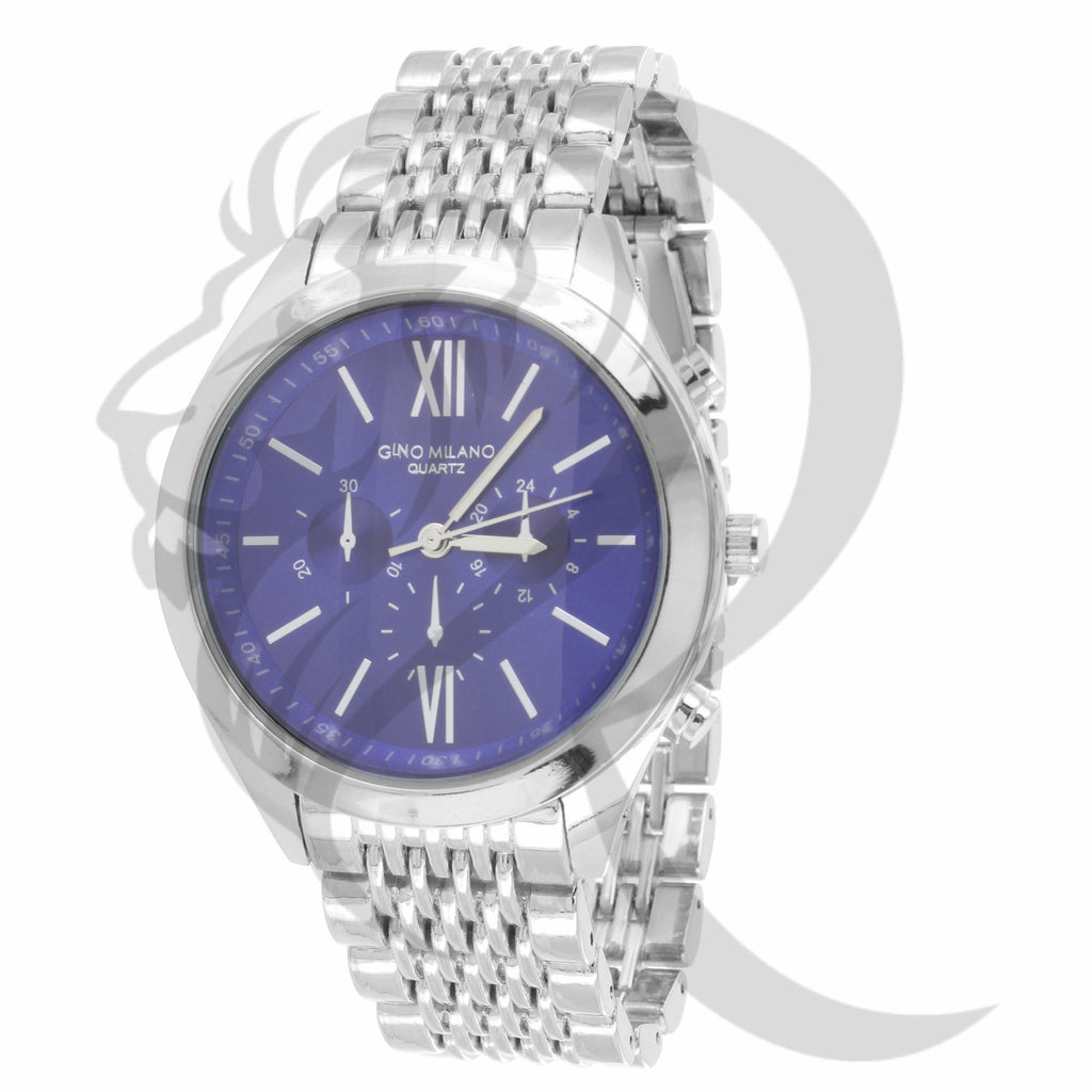 42MM Blue Dial Plain White Milano Watch