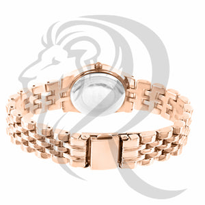Rose Gold Finish 25MM ladies Watch