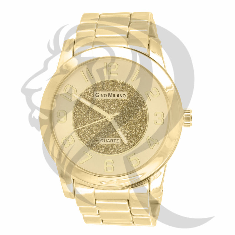All Yellow Plain Gino Milano 45MM Watch