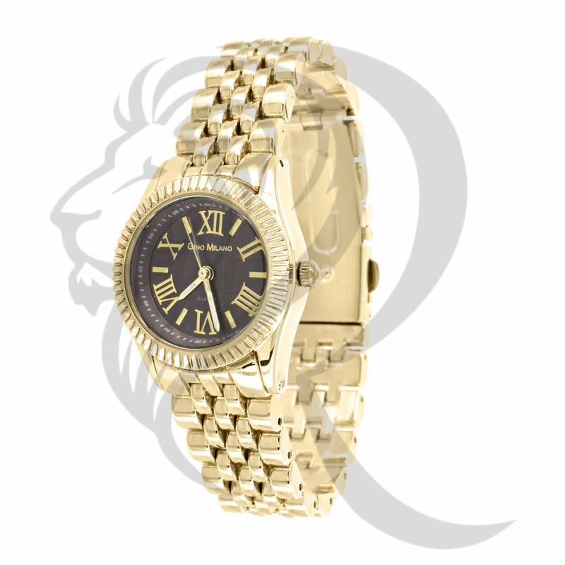 Black Dial 25MM Yellow Gold Watch