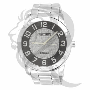Black & White Illusion Dial Plain Men's Watch