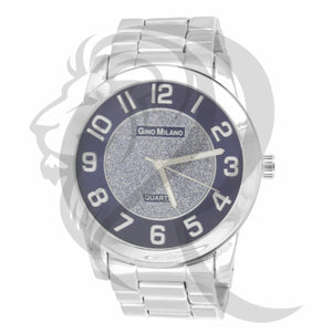 Blue & White 45MM Dial Plain Men's Watch
