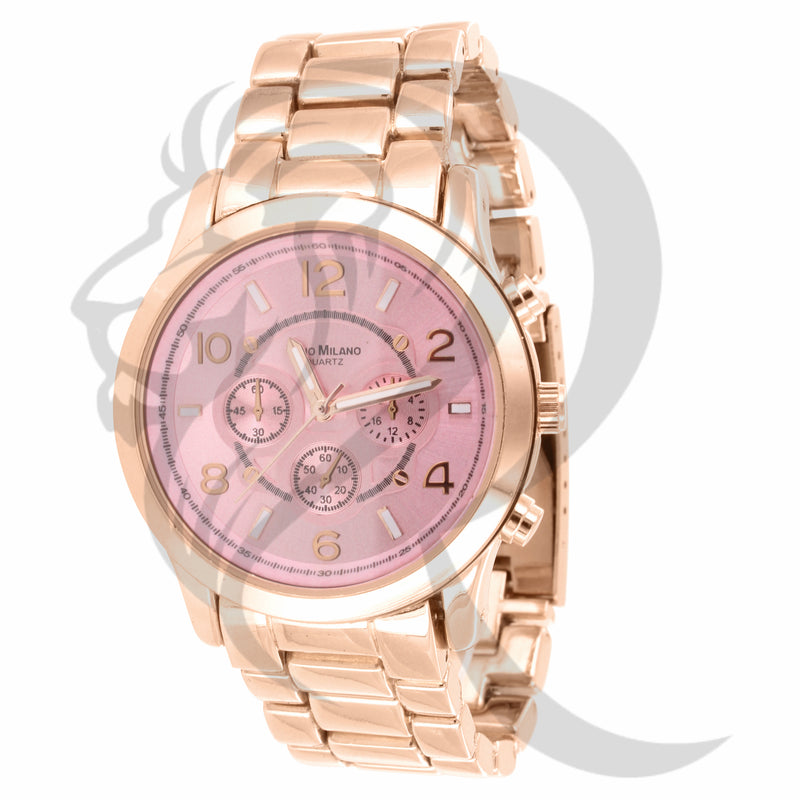 Rose Gold 38MM Pink Dial Gino Milano Watch