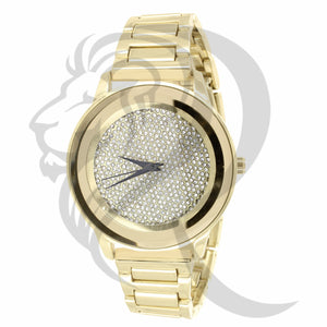 Yellow Gold Iced Out Dial Watch