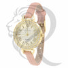 30MM Yellow Face Pink Leather Band Gino Milano Watch