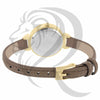 30MM Brown Leather Band Yellow Face Ladies Watch