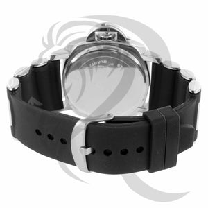 White Tone 46MM Black Bullet Band Watch
