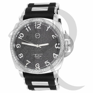 Black Dial 46MM Bullet Band Men's Watch