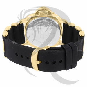 Black & Yellow Gold Silicone Band Watch