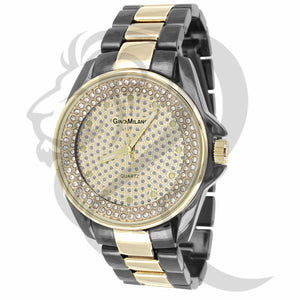 2 Tone Iced Out Dial Watch