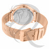 Rose Gold 42MM IcedOut Dial Mesh Band Watch