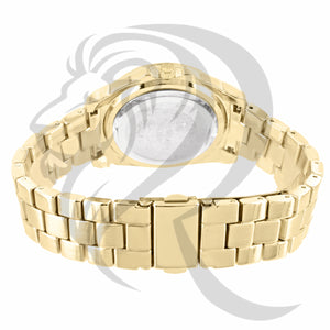 36MM Yellow Gold Plain Ladies Watch