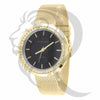 Black Dial 36MM 1 Row IcedOut Rim Ladies Mesh Band Watch