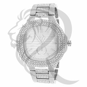 48MM Face IcedOut Luxury Look Inspired Men's Techno Pave Watch