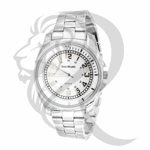 Plain White Tone 36MM Women's Watch