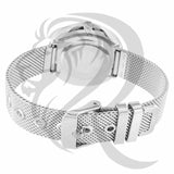 36MM White Gold Tone Mesh Band Watch