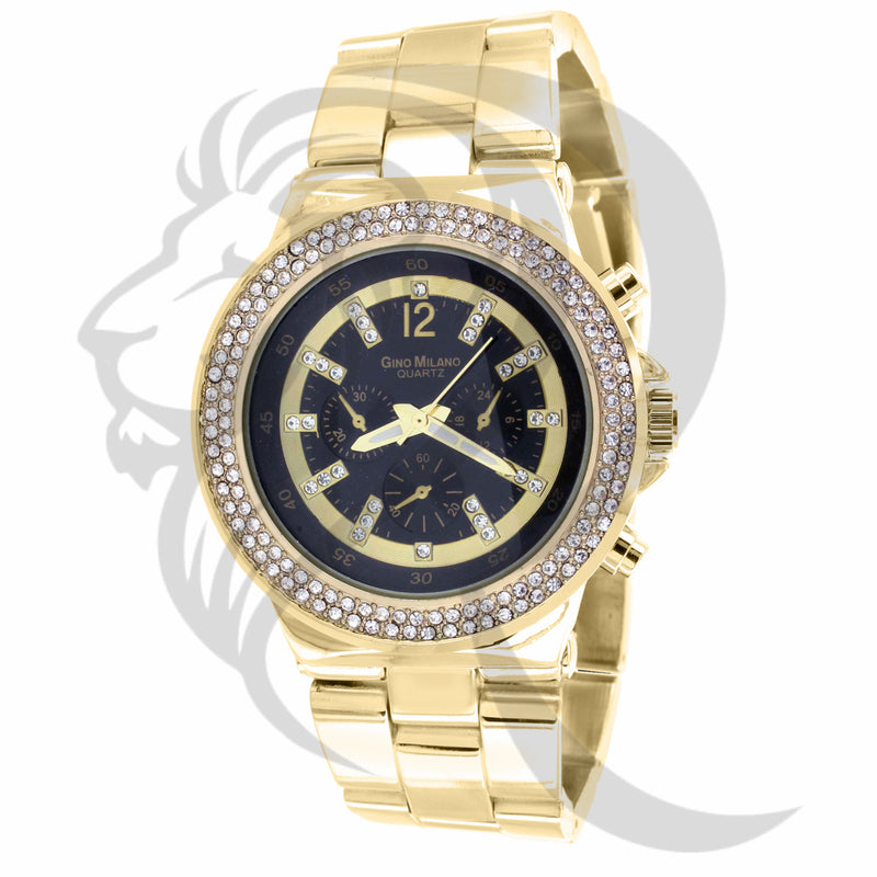 43MM 2 Row Icedout bezel Milano Watch