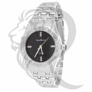 33MM Black & White Dial Watch