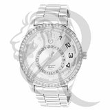 Plain White Tone IcedOut Bezel 45MM Watch