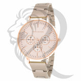 Two-Tone Plain 39MM Gino Milano Watch