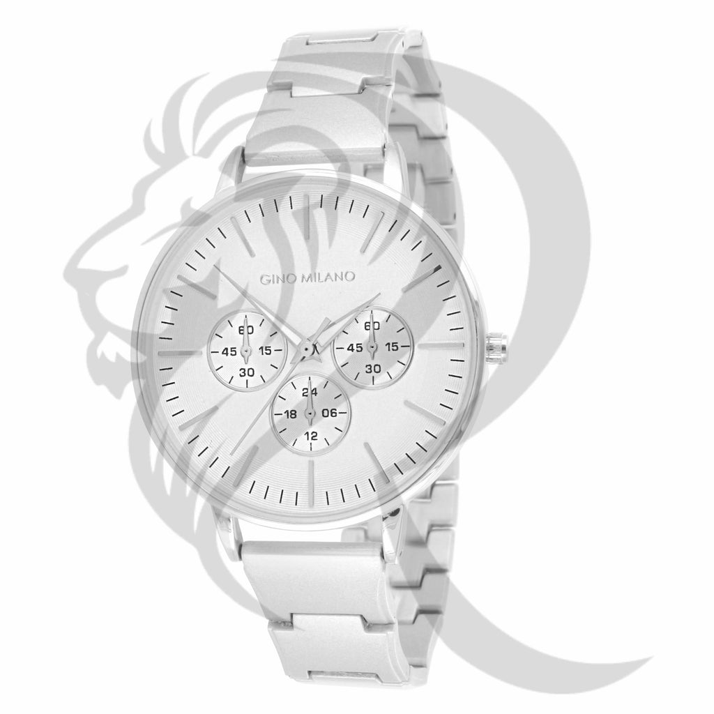 Plain All White Gold Tone 39MM Watch
