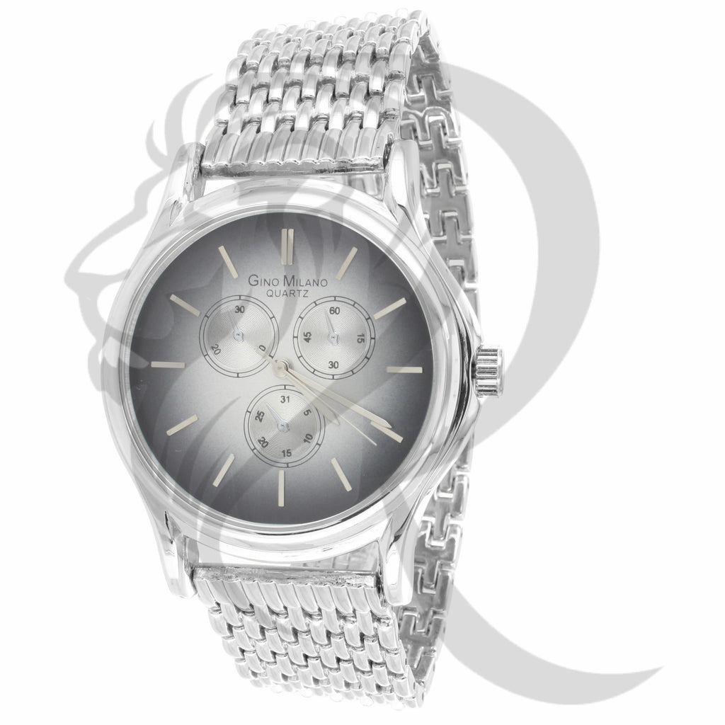 White Gold Finish 42MM Ladies Watch