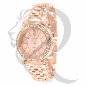 Rose Gold Finish Icedout 33MM Watch