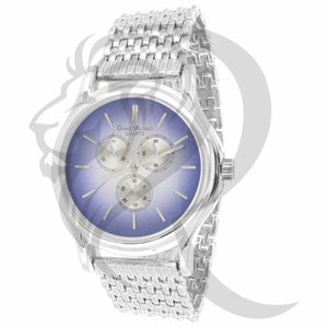 Blue Dial Plain White Gold 42MM Watch