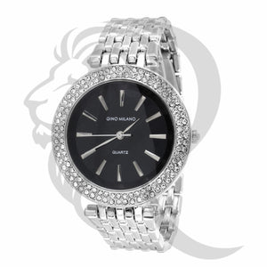 Black Dial White Tone 40MM Watch