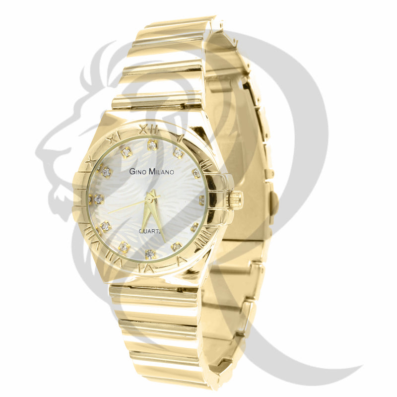 White Dial Yellow Body 30MM Women's Watch
