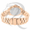 4 Time Zones Rose Gold IcedOut 42MM Watch