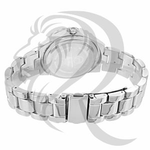 Round 38MM IcedOut Face Plain Ladies Techno Pave Watch