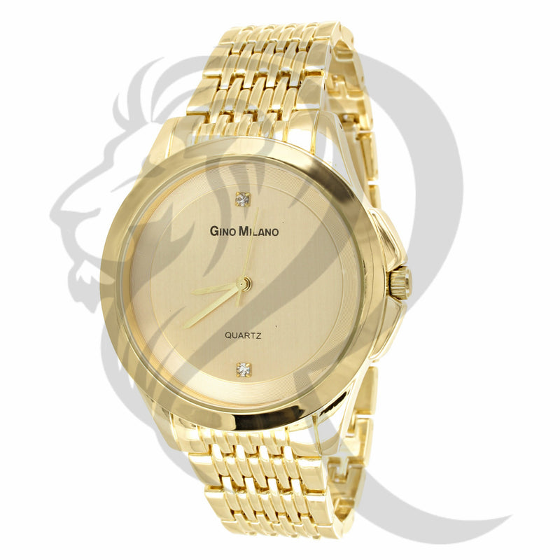39MM Plain Yellow Gino Milano Watch