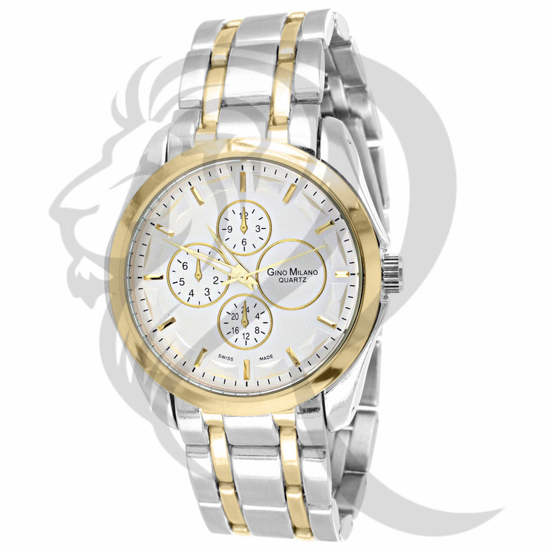 Plain Two-Tone 42MM Gino Milano Watch