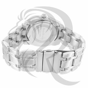Plain White Gold Tone 42MM ladies Watch