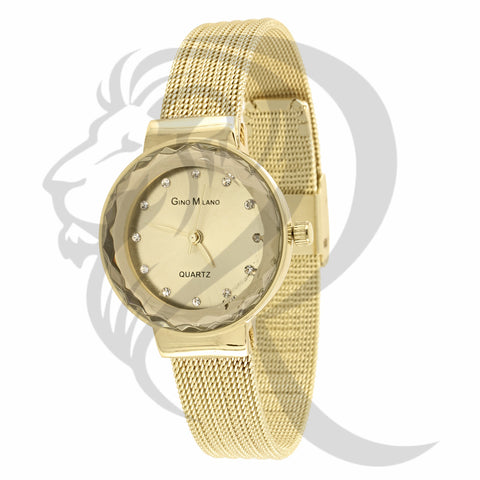 27MM Plain Mesh Band Gino Milano Watch