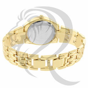 Yellow Gold IcedOut Bezel 34MM Watch