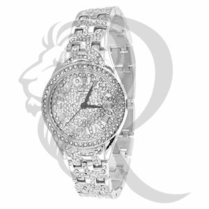 29MM White IcedOut Gino Milano Watch