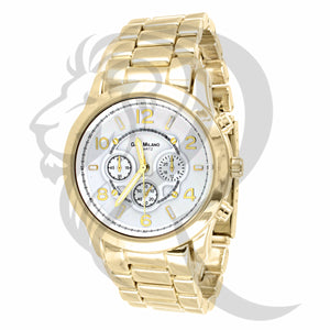 White Dial 38MM Yellow Band Milano Watch