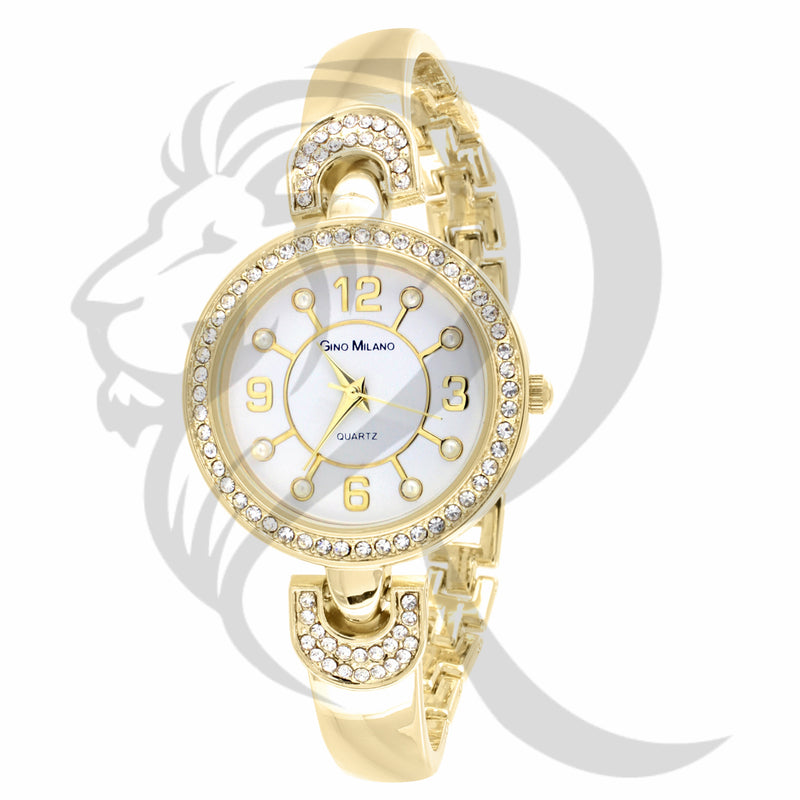 30MM IcedOut Face Yellow Gino Milano Watch
