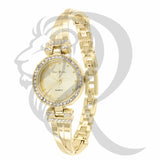 Yellow Gold Tone 24MM IcedOut Women's Watch