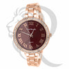 38MM Plain Rose Gold Women's Watch