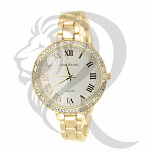 38MM White Dial Yellow Tone Milano Watch