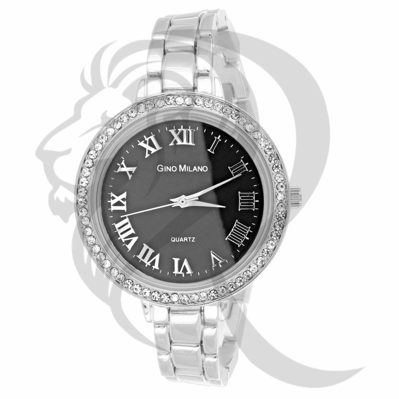 38MM Black Dial IcedOut Bezel Women's Watch