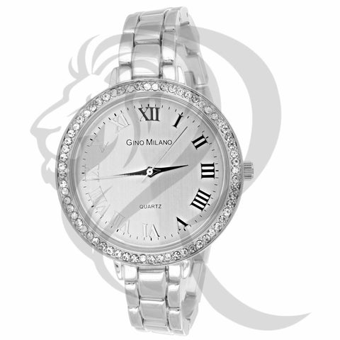 38MM All White Gold Tone Gino Milano Watch