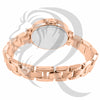 Rose Gold IcedOut Bezel 38MM Ladies Watch