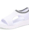 2019 Fashion Women Breathable Comfort White Sandals - Online Shop Buy Now